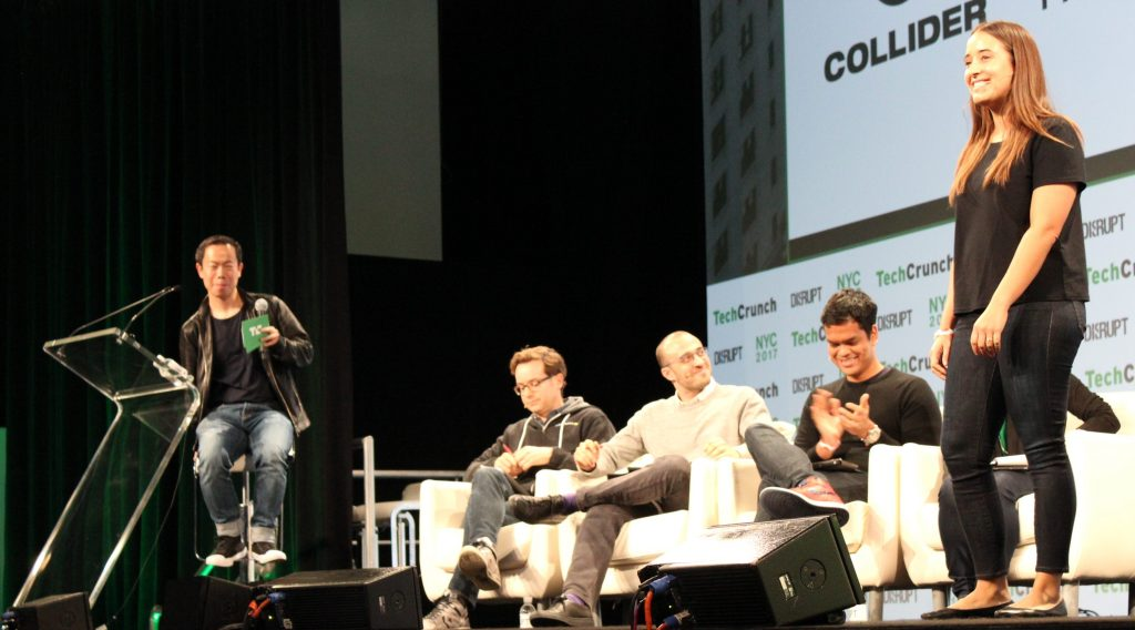 Collider pitching in the TechCrunch Disrupt Startup Battlefield