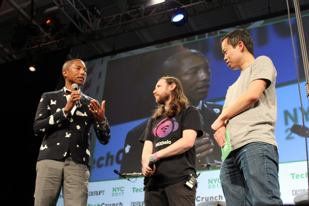 Pharrell Williams and Michael Einziger talk about their new concert audio app called MIXhalo
