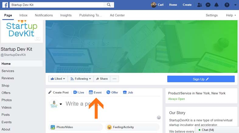 How to Create Events on Facebook - facebook marketing strategies post for startups