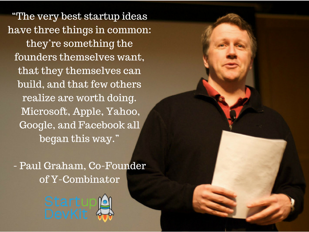 startup quote: the very best startup ideas - paul grahahm