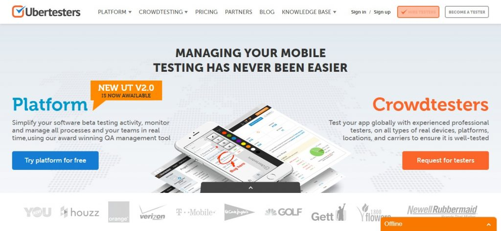 Uber Testers - Crowdsourced QA beta testing solution and QA testing. Desktop and mobile app beta testing sites