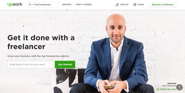 UpWork freelance website marketplace