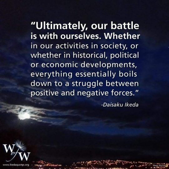 battle within ourselves