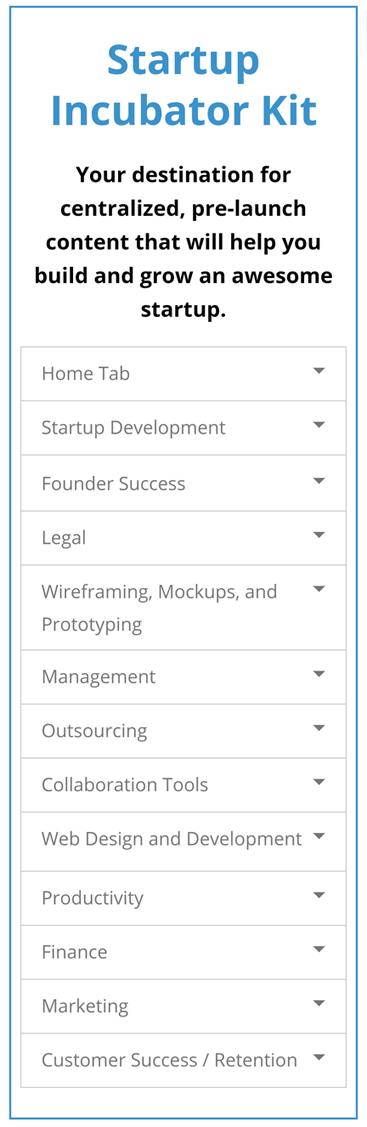 StartupDevkIt Startup Incubator Kit Mobile Dashboard