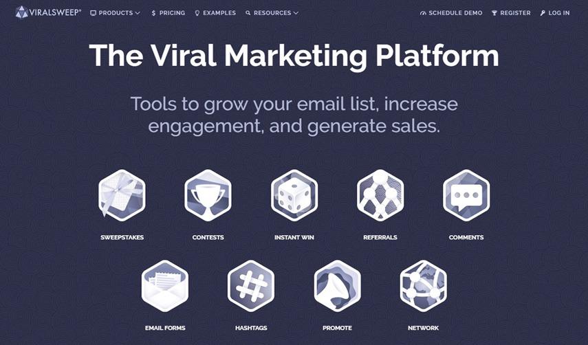 ViralSweep screenshot - Viral Marketing Platform - StartupDevKit