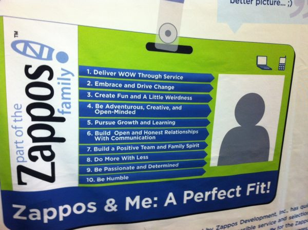 Zappos 10 core values - startup culture