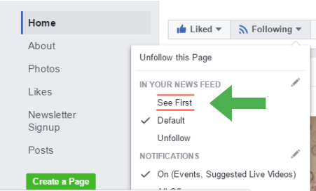 Facebook news feed prioritization for free facebook marketing strategies